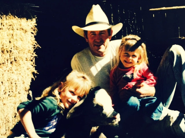 Daddy and Cami and Lacy calf